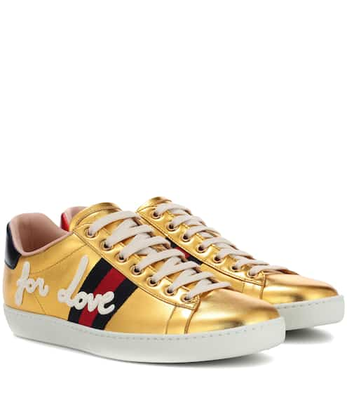 29bd947fc7f Gucci Ace Leather Sneakers from mytheresa - Styhunt