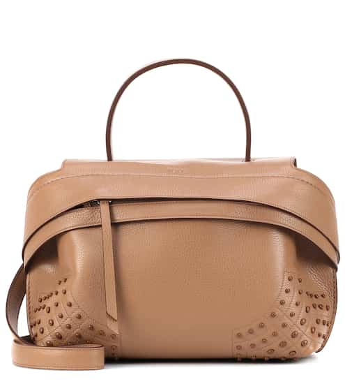 Wave Small Leather Tote Tod S