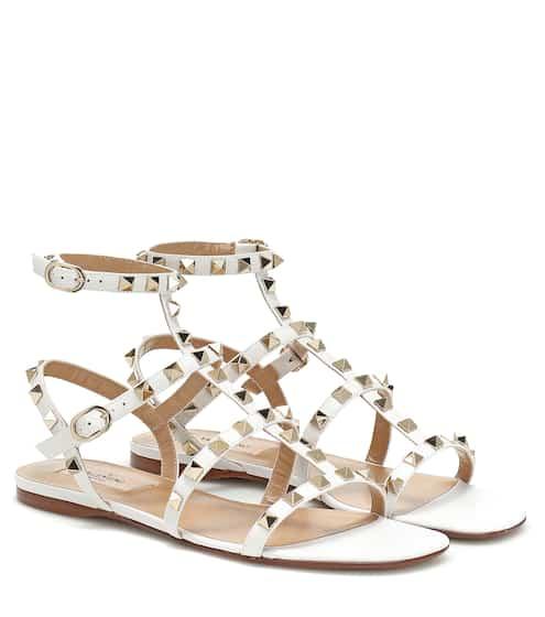 ea2b36495c2c Valentino Garavani Rockstud leather sandals