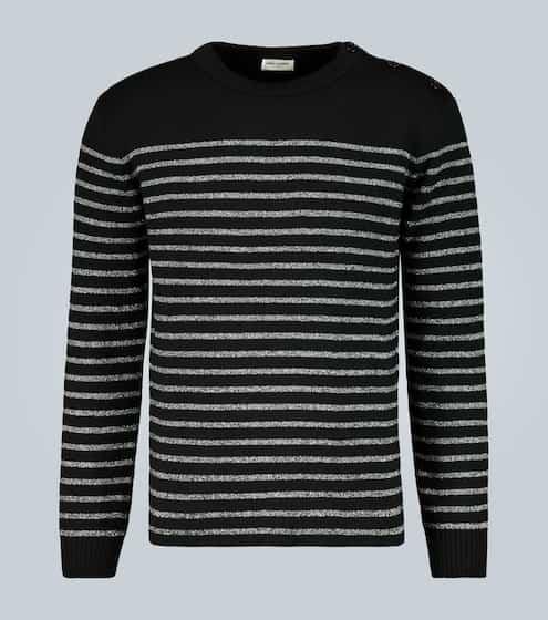 생 로랑 Saint Laurent Sailor-knit striped sweater
