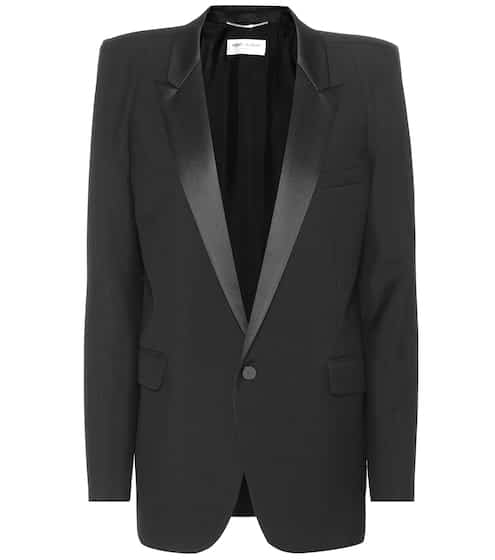 Saint Laurent Blazer Le Smoking aus Grain de Poudre