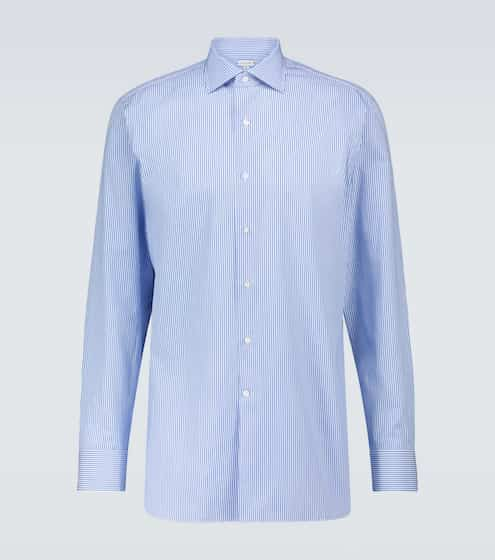 CARUSO Long-sleeved cotton shirt