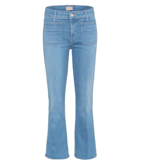 Mother Cropped Jeans Patch Slacker