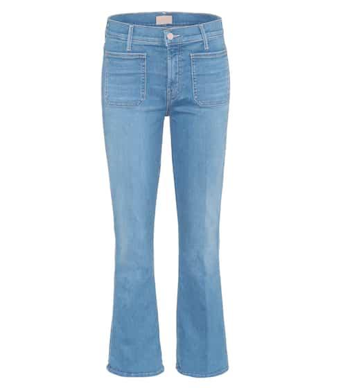 Mother Cropped Jeans Patch Slacker