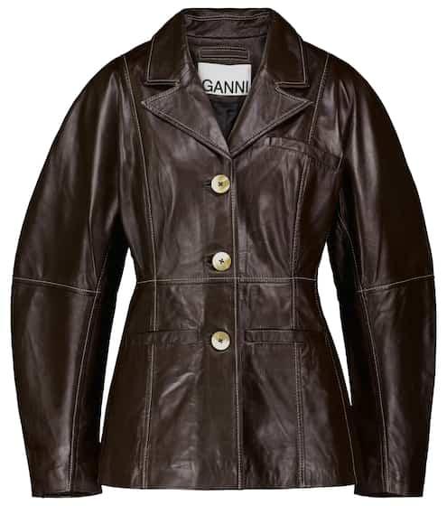 가니 가죽 셋업 자켓 Ganni Leather blazer
