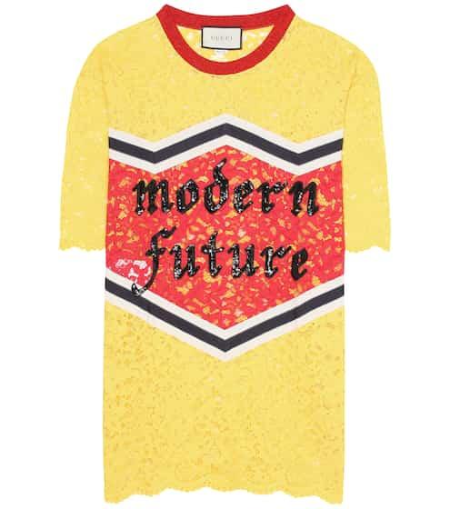 Gucci T-Shirt aus Spitze