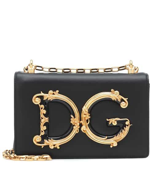 66c33bf88720 DG Girls leather shoulder bag