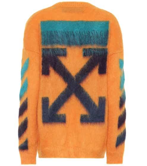 오프화이트 Off-White Mohair and wool-blend sweater