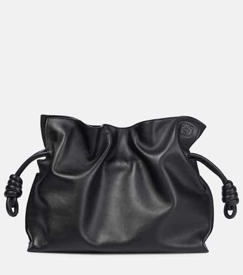 로에베 플라멩고 매듭 클러치 - 블랙 LOEWE Flamenco Knot leather clutch