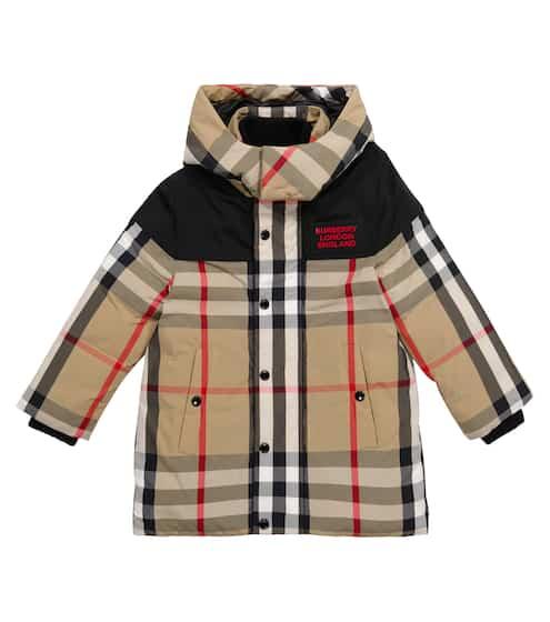 버버리 키즈 후드 자켓 Burberry Vintage Check hooded jacket