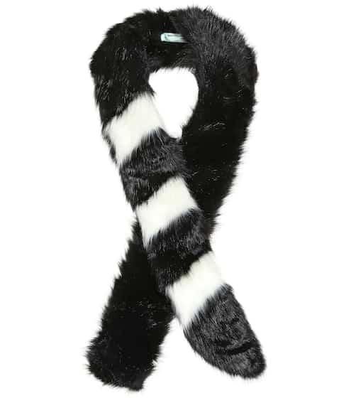 오프화이트 인조모피 스카프 Off-White Faux fur scarf
