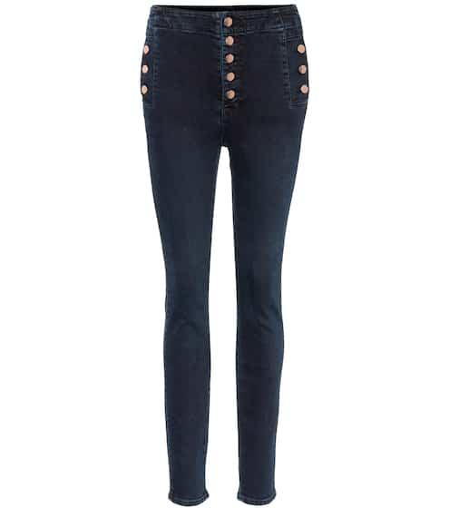 J Brand High-Rise Skinny Jeans Natasha Sky