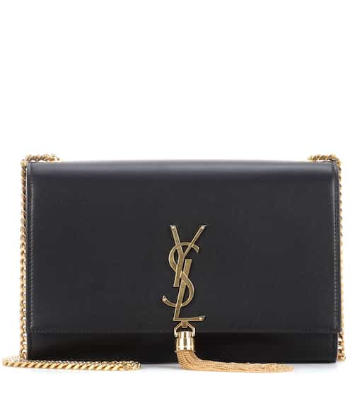 Saint Laurent Schultertasche Kate Monogram Medium aus Leder