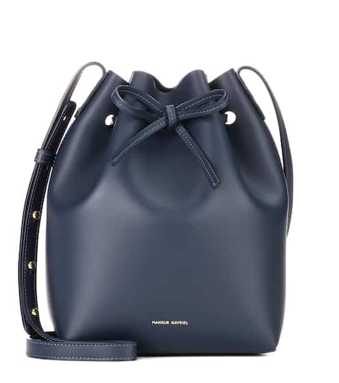 Mansur Gavriel Bucket-Bag Small aus Leder