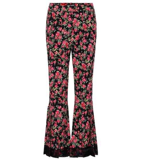 Dolce & Gabbana Flared-Hose mit Blumenprint