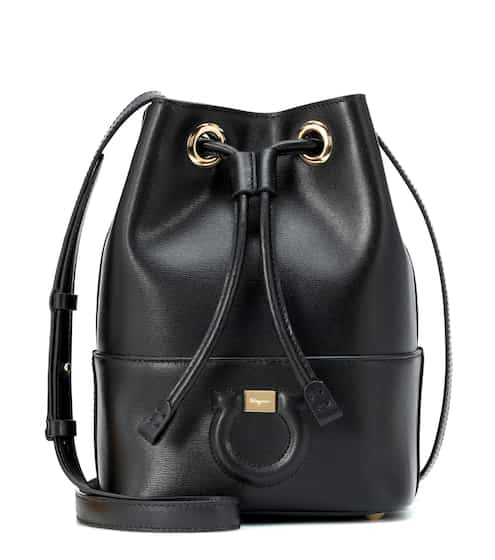 8d6cf92005a Salvatore Ferragamo City Leather Bucket Bag from mytheresa - Styhunt