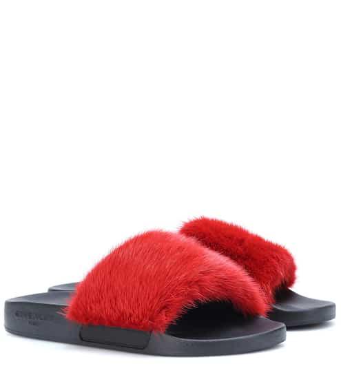 Sandali con pelliccia di visone  7cfbe305f0a