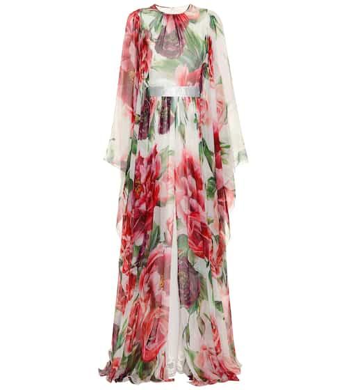 Floral silk maxi dress | Dolce & Gabbana