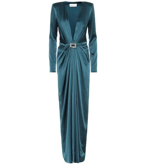 50b77e9a2 Embellished satin gown. $ 3,271. available sizes. FR 36