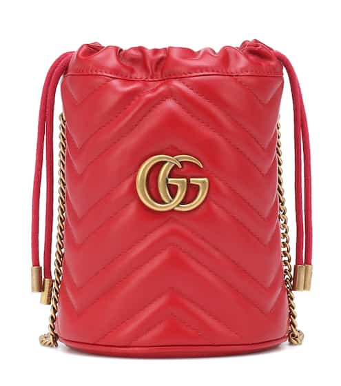 9c5b4fe74 GG Marmont Mini leather bucket bag | Gucci. Gucci