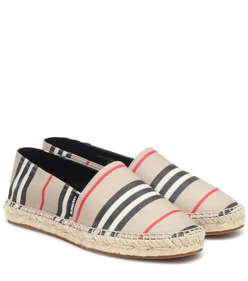 버버리 에스파드류 Burberry Icon Stripe espadrilles