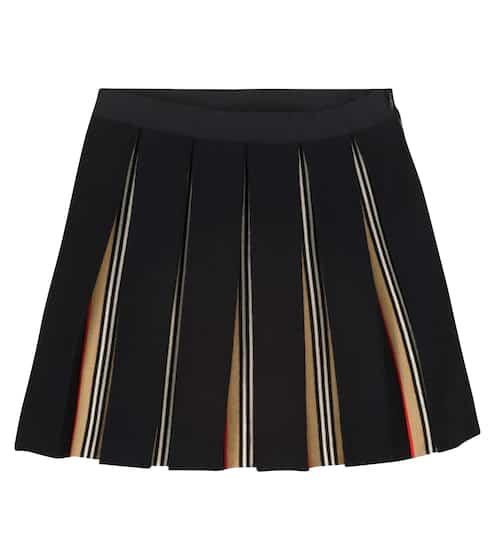 버버리 키즈 치마 Burberry Pleated wool-blend skirt