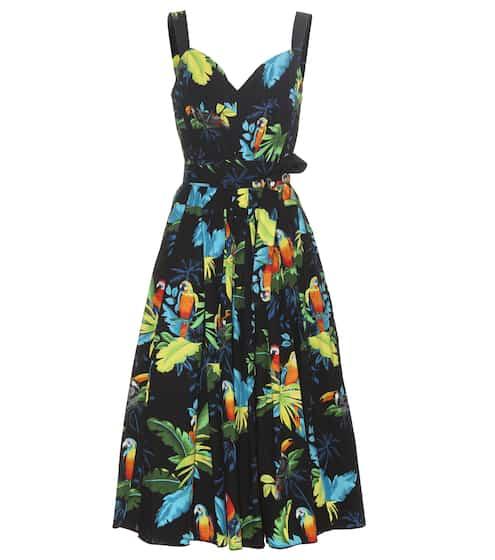 Marc Jacobs Bedrucktes Kleid aus Stretch-Baumwolle