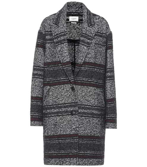 이자벨 마랑 에뚜왈 단테 코트 - 페디드 블랙 (김나영 착용) Isabel Marant Etoile Dante wool-blend coat
