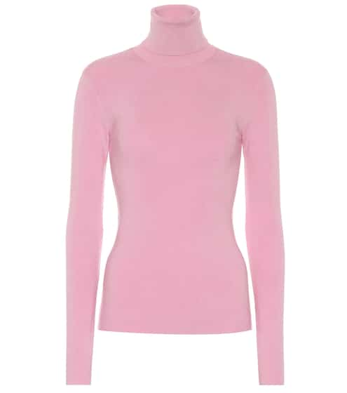 Silk-blend turtleneck sweater  f21920af9
