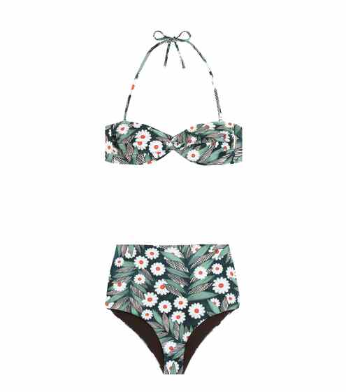 Mara Hoffman Bandeau-Bikini mit Print