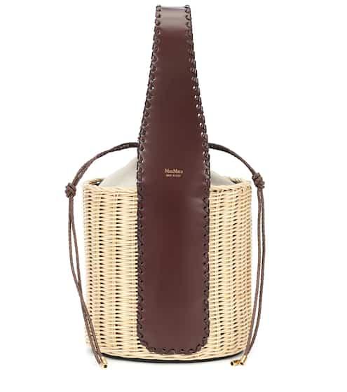 0f79860ff3ca1c Bucket-Bag Aisha aus Stroh und Leder | Max Mara