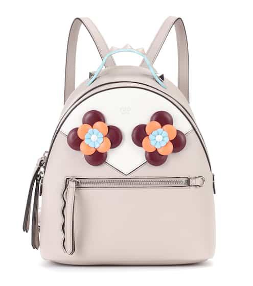 Fendi Lederrucksack Mini mit Verzierung