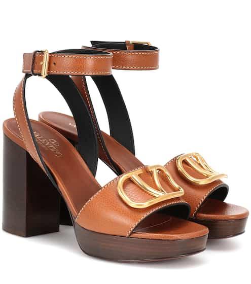bfa107814e4 Valentino Garavani Go Logo leather sandals