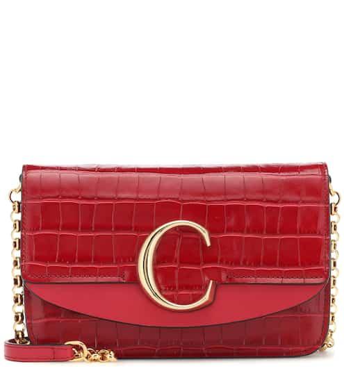 22f05340e حقيبة للكتف من الجلد المنقوش Chloé C   Chloé