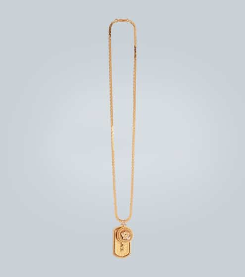 베르사체 메두사 목걸이 Versace Medusa two-pendant necklace