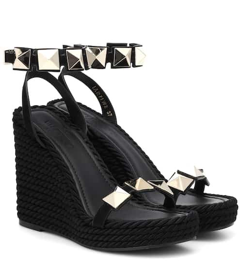07bbd3a9153c Valentino Garavani leather wedge sandals