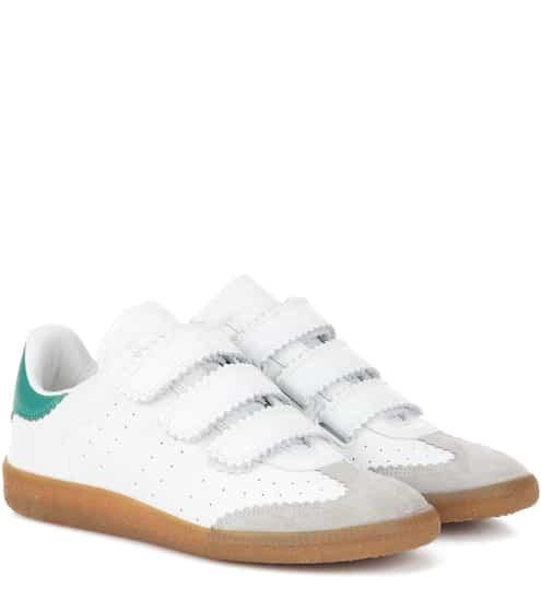 Isabel Marant Étoile Beth Sneakers aus Leder und Veloursleder