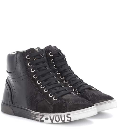 Saint Laurent Sneakers Joe aus Leder und Veloursleder