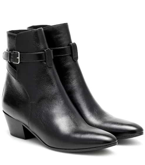 생 로랑 Saint Laurent West Jodhpur 45 leather ankle boots
