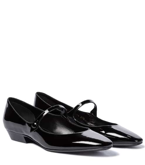 생 로랑 Saint Laurent Patent leather Mary Jane flats