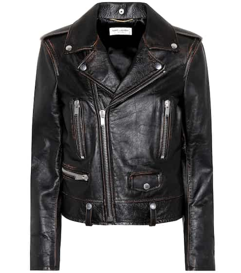 Saint Laurent Lederjacke