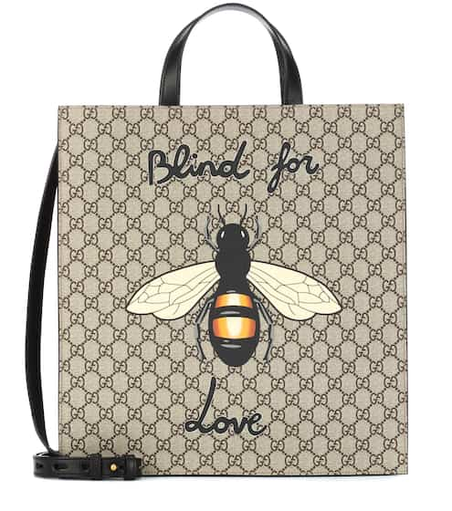 ef4127c46b3c Gucci Bee Printed Gg Supreme Tote from mytheresa - Styhunt