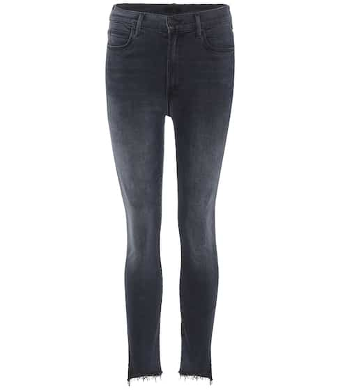 Mother Jeans Stunner Zip Ankle Step Fray
