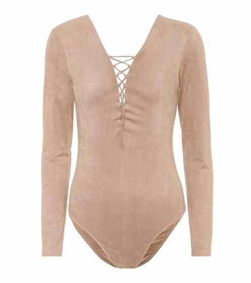 알렉산더 왕 Alexander Wang Lace-up bodysuit