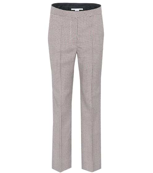 Stella McCartney Wollhose Houndstooth