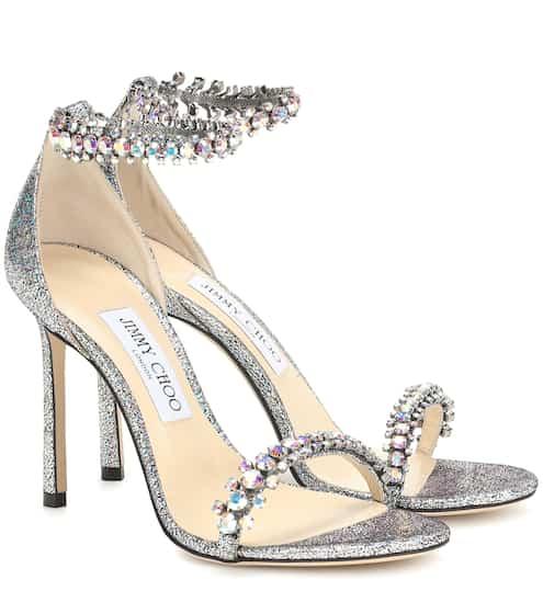 875eb4b482 Shiloh 100 embellished glitter sandals | Jimmy Choo