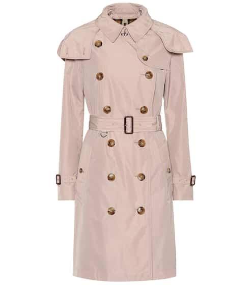 버버리 켄싱턴 트렌치 코트 - 초크 핑크 (한효주, 수영 착용) Burberry Kensington taffeta trench coat