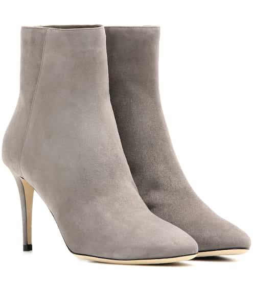 Jimmy Choo Ankle Boots Duke 85 aus Veloursleder