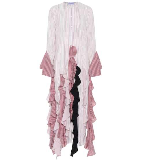 JW Anderson Kleid aus Seide mit Volants