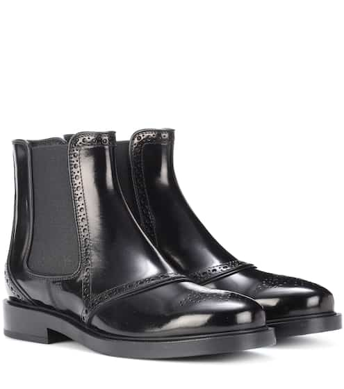 258888e91f0a7 Tod's Glossed-Leather Chelsea Boots from mytheresa - Styhunt